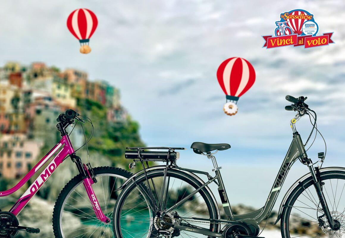 sassellese olmo concorso vinci al volo biciclette elettriche mountain bike uomo donna bambino