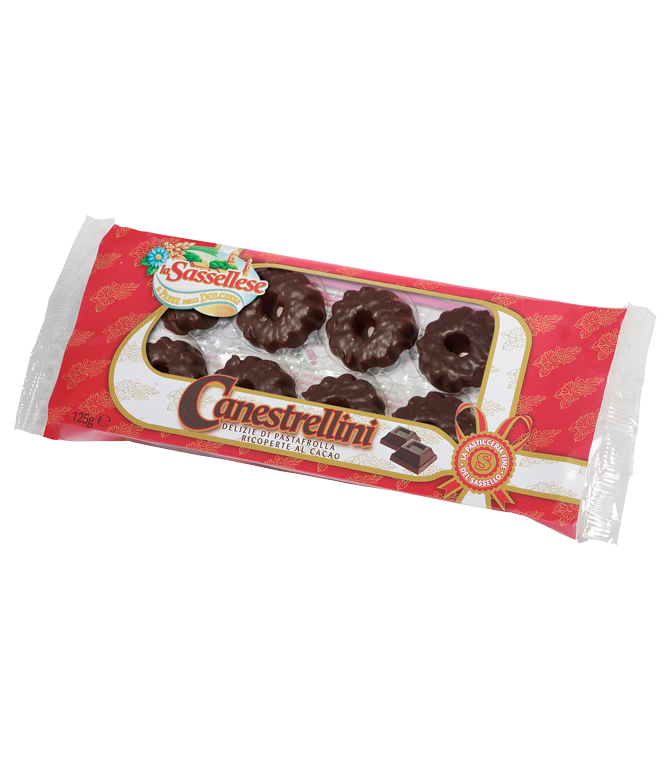 sassellese canestrellino covered with chocolate 125g